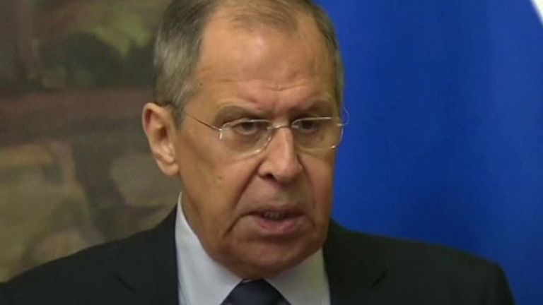 Sergei Lavrov says the West's reaction to the Navalny case is hysteria