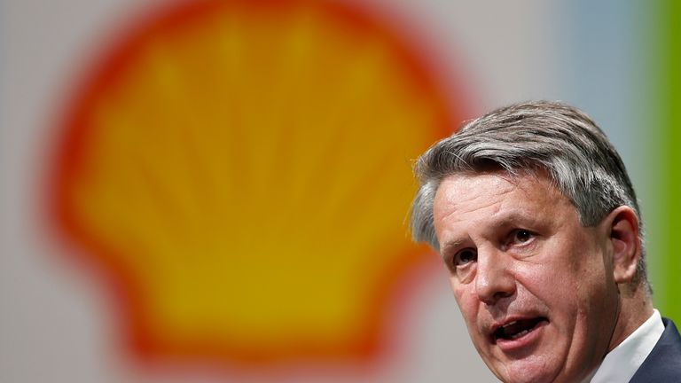 Ben van Beurden, chief executive officer of Royal Dutch Shell, speaks during the 26th World Gas Conference in Paris, France, June 2, 2015.