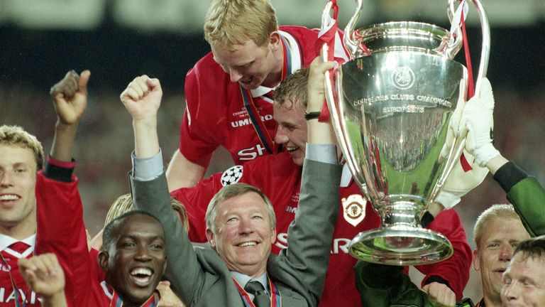 Manchester United won the Champions League in 1999. Pic: AP