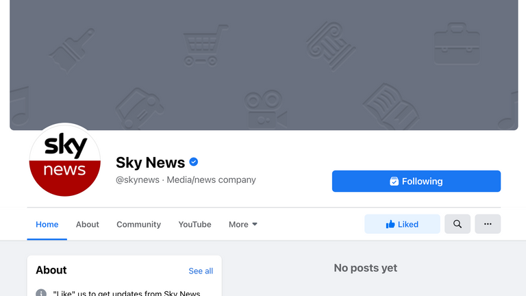 The block also impacted Sky News UK