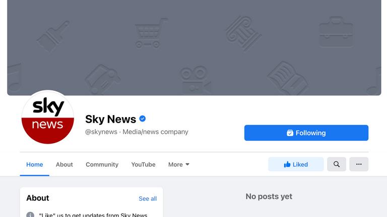 Pemblokiran tersebut juga berdampak pada Sky News UK