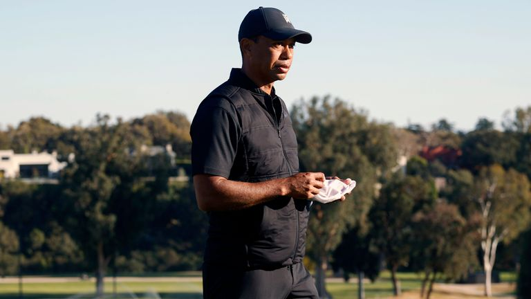 Tiger Woods taken to hospital after being injured in car crash in LA