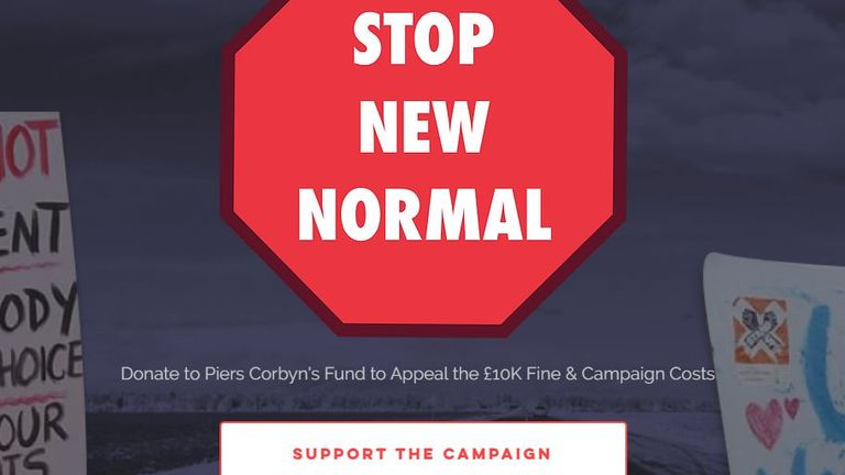A call to donate is one of the first things on the Stop New Normal website. Pic: Stop New Normal
