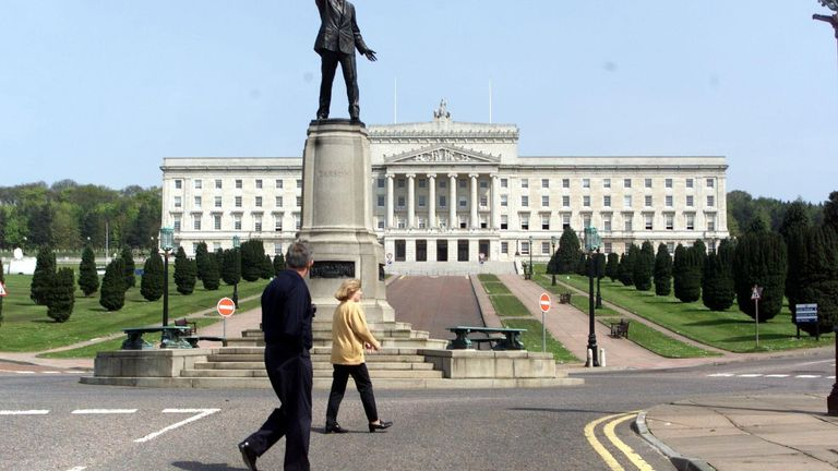 There have been calls for the Northern Ireland executive, based at Stormont (pictured) to have an emergency meeting
