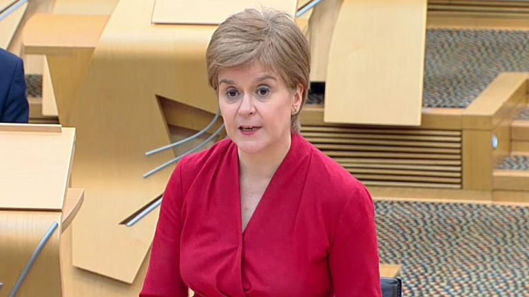 Scottish first minister lays out dates for the lifting of coronavirus restrictions in Scotland.