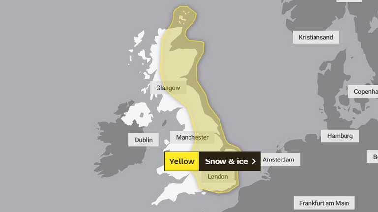 Sunday's weather warnings. Pic: Met Office