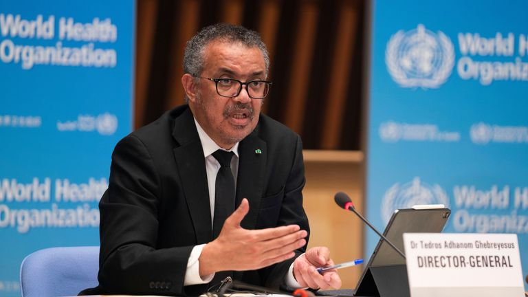 WHO director general Dr Tedros Adhanom Ghebreyesus