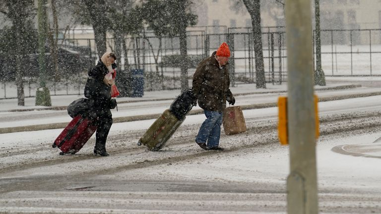 There is anger at Mr Cruz's actions as the state wrestled with a deadly winter storm
