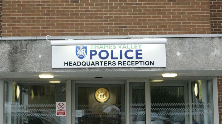 File picture of Thames Valley Police headquarters