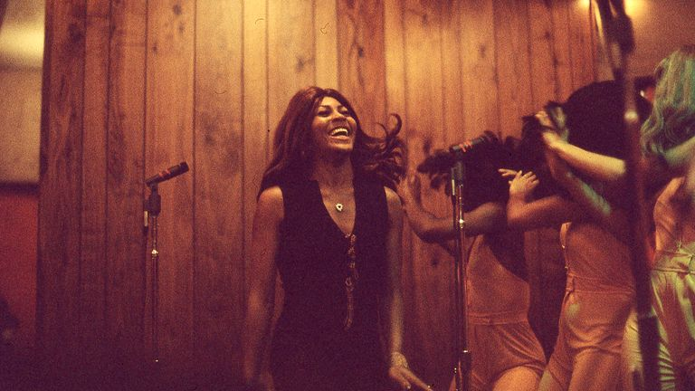 Tina Turner and the Ikettes perform in May 1973. Pic: Altitude
