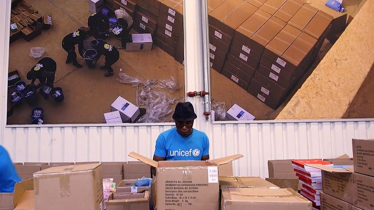 Unicef has been preparing for the vaccine roll-out in developing countries for months at their humanitarian warehouse in Copenhagen