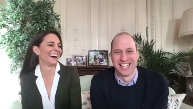 The Duke and Duchess of Cambridge speak to shielding families about the vaccine