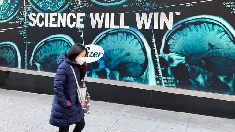 JANUARY 28th 2021: The COVID-19 vaccine made by Pfizer and BioNTech appears to retain its effectiveness against the coronavirus variant mutations that have recently emerged in The United Kingdom and South Africa, according to a press release from the firms. - File Photo by: zz/STRF/STAR MAX/IPx 2020 12/18/20 Pfizer Inc. continues the initial rollout and worldwide distribution of the Pfizer-BioNTech COVID-19 vaccine. Here, a view of Pfizer World Headquarters in Midtown Manhattan, New York City on