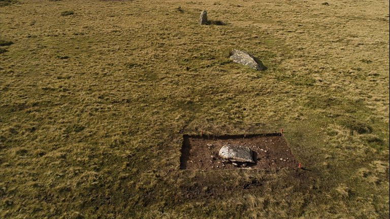 Archaeologists believe the rocks of Stonehenge may have stood at this site in Wales