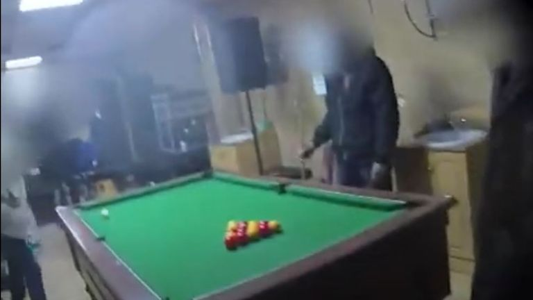 A group playing pool were fined £200 each on Friday night. Pic: West Midlands Police