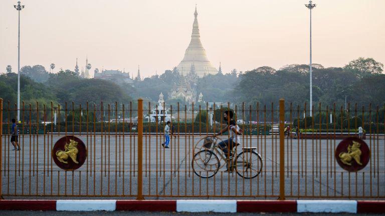 Shwedagon pagoda is seen in Yangon, Myanmar February 1, 2021
