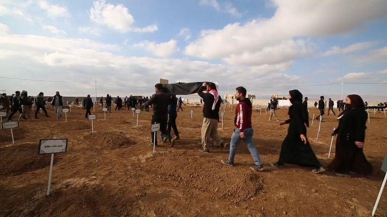 Yazidi funeral in Iraq