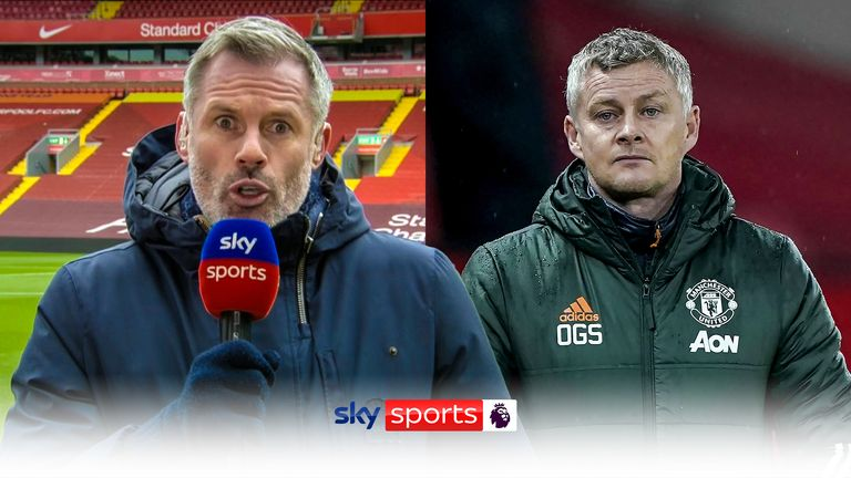 Jamie Carragher says Liverpool are the only team to stop Manchester City as he feels Manchester United have 'bottled' their chances of winning the Premier League title