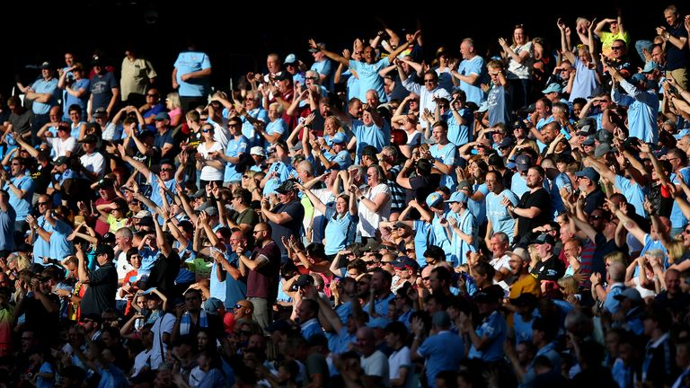 Manchester City fans could see their side lift the Premier League trophy at the Etihad as the Prime Minister outlined his road map for easing coronavirus lockdown restrictions