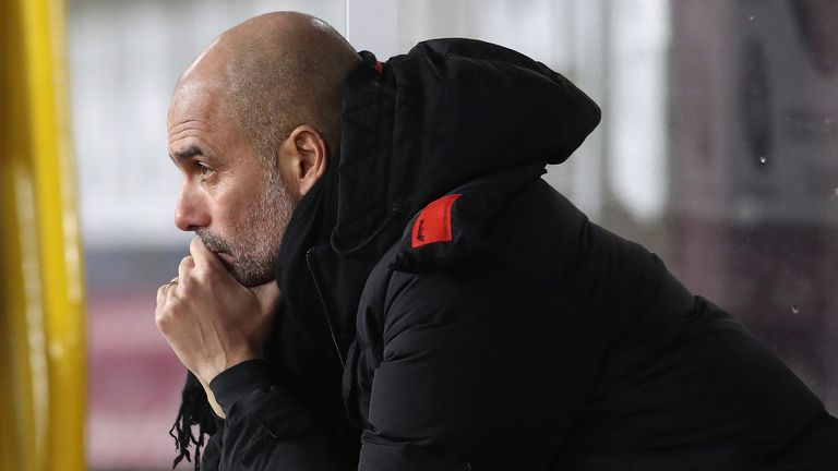 Pep Guardiola is worried Covid-19 cases could rise when players travel abroad during March's international break