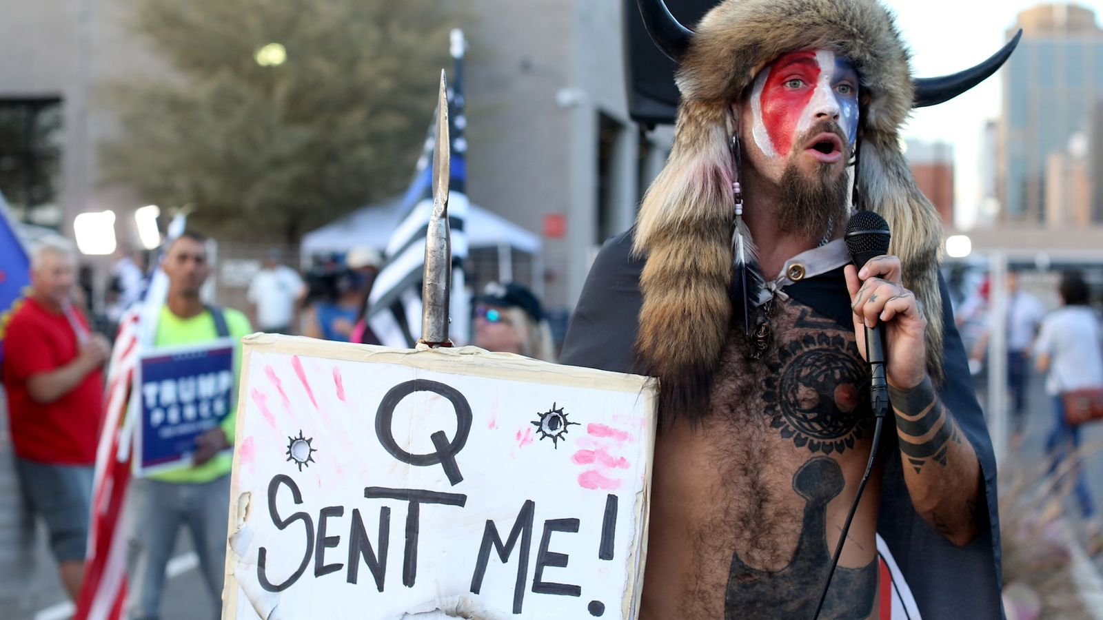 Followers of 'doomsday cult' QAnon imagine Donald Trump will retake energy as we speak