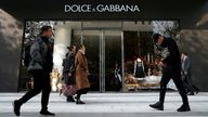A Dolce and Gabbana store in Shanghai, China