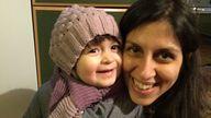 Nazanin Zaghari-Ratcliffe and her daughter Gabriella, pictured in 2016