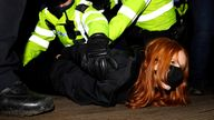 Patsy Stevenson is arrested at a vigil in memory of murdered Sarah Everard Pic: James Veysey/Shutterstock