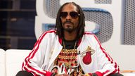 Snoop Dogg is known for his calm and collected persona. Pic: AP