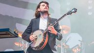Winston Marshall of Mumford & Sons performs at the BottleRock Napa Valley Music Festival in May 2019. Pic: AP