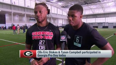 Stokes, Campbell evaluate pro day performances