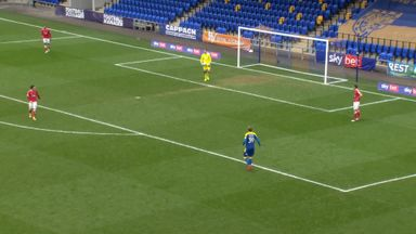 Charlton's woeful back-pass error!