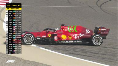 Leclerc goes spinning for Ferrari