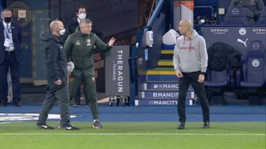 Ole and Pep's socially distanced spat!