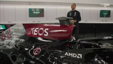 Hamilton meets his new Mercedes