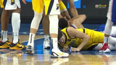 NBA player's tooth knocked out on court