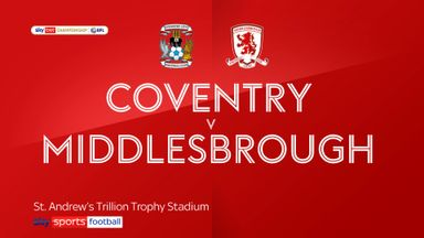 Coventry 1-2 Middlesbrough