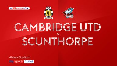 Cambridge 0-1 Scunthorpe