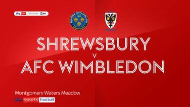 Shrewsbury 1-1 AFC Wimbledon