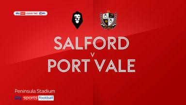 Salford 1-0 Port Vale