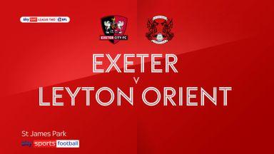 Exeter 4-0 Leyton Orient