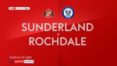 Sunderland 2-0 Rochdale