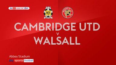 Cambridge 1-0 Walsall