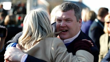 Trainer Gordon Elliott after the 5.15 Randox Health Grand National Handicap Chase Action
