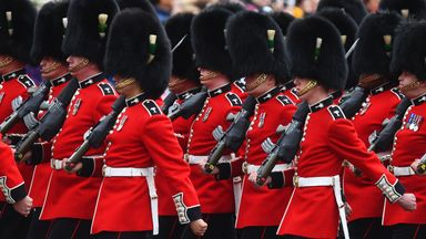 The Welsh Guards perform ceremonial duties at the royal palaces