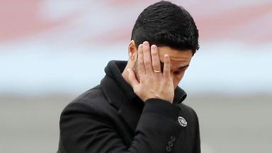 Arteta apologises for Liverpool loss