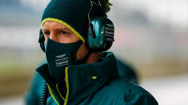 First look: Vettel on track for Aston Martin