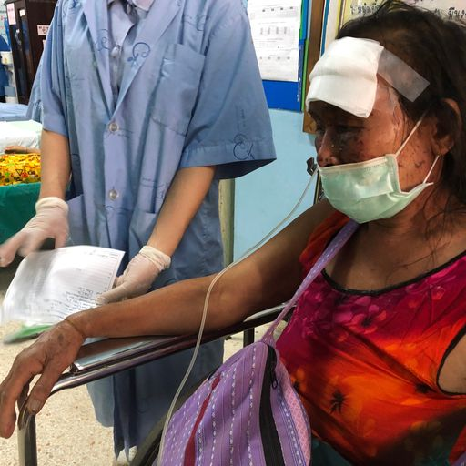 Wounded flee to Thailand after Myanmar airstrikes - but some say they are being forced back