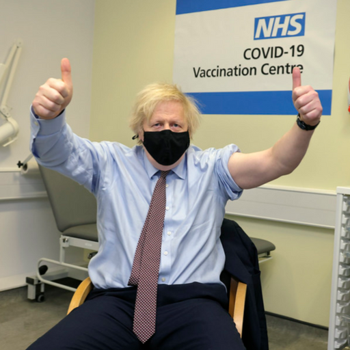 Boris Johnson receives first dose of Oxford-AstraZeneca vaccine
