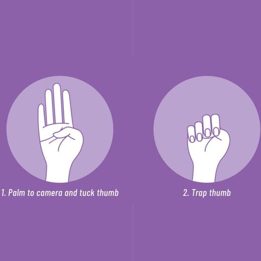The simple hand signal that lets people know you're in danger - and other ways to ask for help